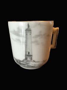 Tea cup with image of the Myles Standish Monument, Duxbury