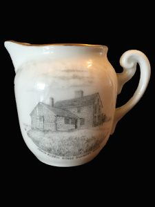 Ceramic pitcher with image of the Alden House, Duxbury