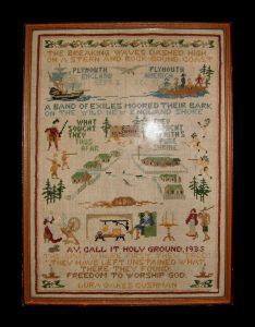Pilgrim-themed Sampler