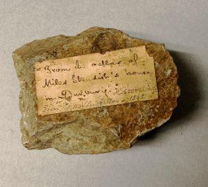 Stone from the homesite of Myles Standish