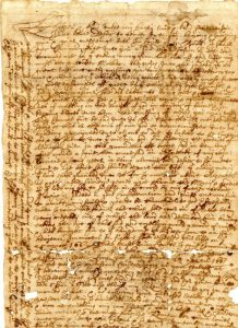 17th century letter, Mitchell family