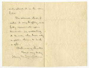 Letter from Henry Wadsworth Longfellow to Lyman Drew of Duxbury, 1879