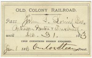 Old Colony Railroad Pass, Duxbury, Mass.