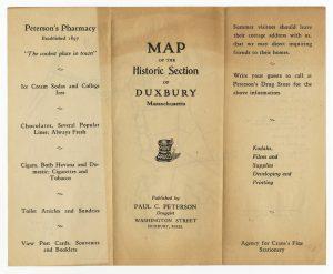 Map of the Historic Section fo Duxbury Massachusetts