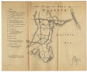 "Map of ""The Pilgrim Town Of Duxbury"""