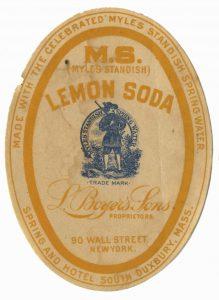 Orange lemon soda oval paper label