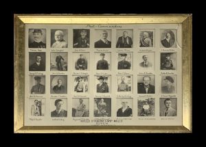 Photograph collection of past commanders of Myles Standish Camp #115