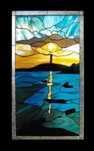 Myles Standish Monument stained glass window