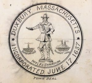 Town of Duxbury Seal, drawing by Laurence Bradford
