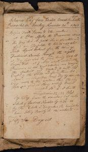 "handwritten logbook of the ""Pilgrim"""