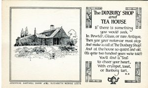 Advertisement with house on left and print on right.